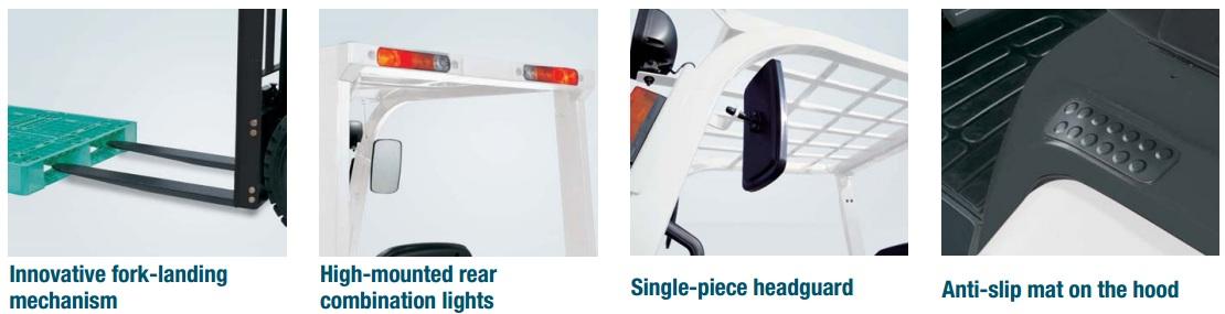 Xe nâng động cơ xăng/dầu smart, sức nâng 1 tấn - 3 tấn