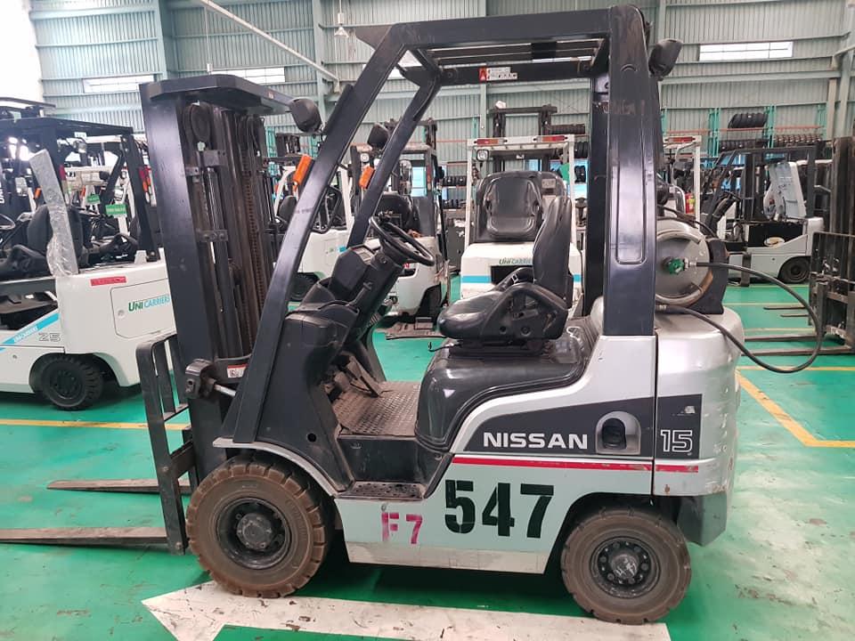 Xe nâng Gas cũ Nissan/ Unicarriers 1.5 tấn - Số 547